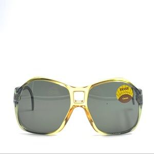 Vintage Zeiss Green/Yellow Oval Sunglasses